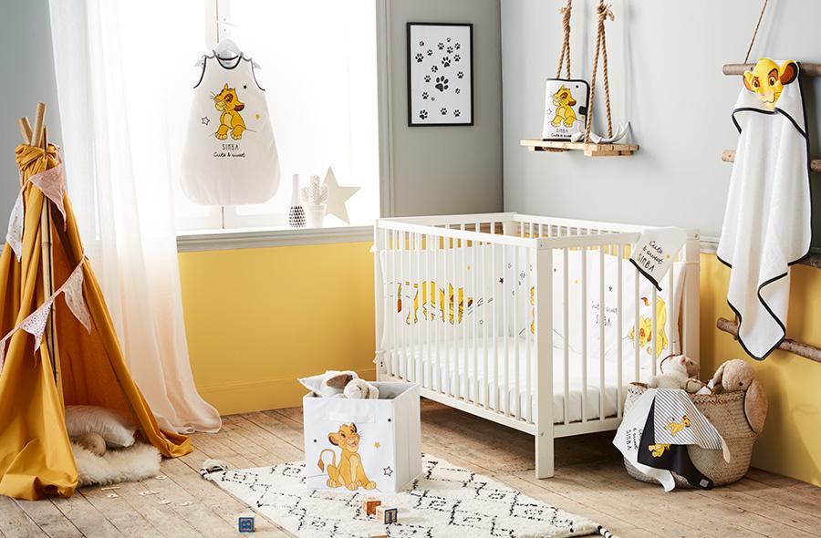 Le camere baby neonati bebe kiabi for Decoration chambre le roi lion